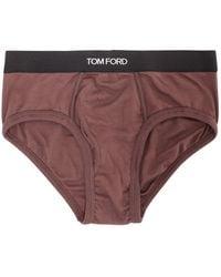 Tom Ford Jersey Briefs - Brown