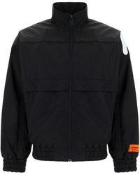 Heron Preston Logo Print Windbreaker Jacket - Black