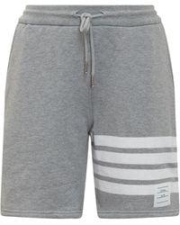 Thom Browne 4-bar Drawstring Track Shorts - Grey