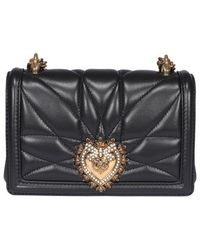 Dolce & Gabbana Small Devotion Crossbody Bag - Black