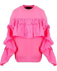 RED Valentino Redvalentino Ruffled Detail Sweatshirt - Pink