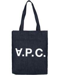 A.P.C. Laure Denim Tote Bag - Blue
