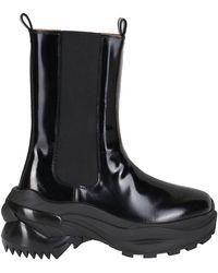 Maison Margiela Retro Fit Combat Boots - Black