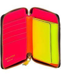 Comme des Garçons Colour-block Zip Wallet - Orange