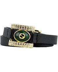 Gucci GG Embellished Bracelet - Black