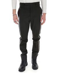 Rick Owens Tuxedo Trousers - Black