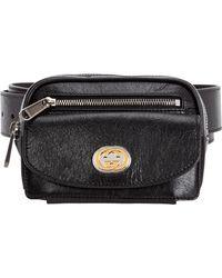 Gucci - Leather Belt Bum Bag Hip Pouch - Lyst