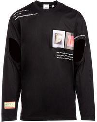 Burberry Cut-out Long Sleeved T-shirt - Black