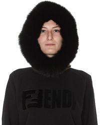 Fendi Ff Knit Hood - Brown