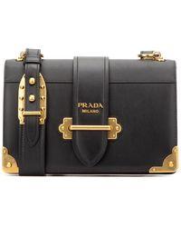 Prada Cahier Shoulder Bag - Black