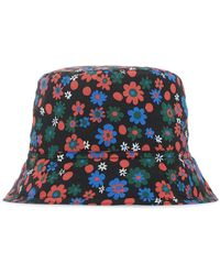 Marni Floral Printed Bucket Hat - Blue