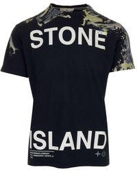 Stone Island - Logo Printed T-shirt - Lyst
