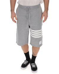 Thom Browne 4-bar Bermuda Shorts - Gray