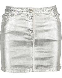 1017 ALYX 9SM Metallic Effect Denim Mini Skirt