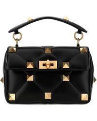 Valentino Garavani Roman Stud Medium Shoulder Bag - Black