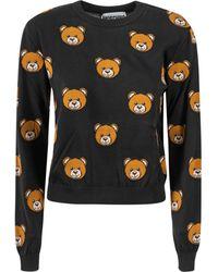 Moschino Allover Teddy Bear Pullover - Black