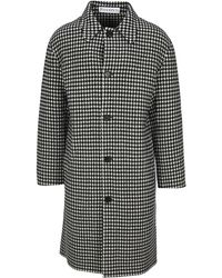 JW Anderson Houndstooth Single Breasted Coat - Black