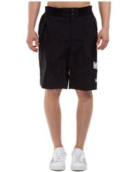 Moschino Logo Printed Track Shorts - Black