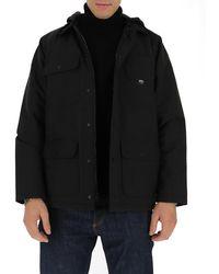 Vans Hooded Flap Pocket Jacket - Black