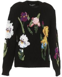 Dolce & Gabbana - Floral Fitted Sweater - Lyst
