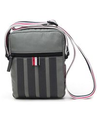 Thom Browne 4-bar Stripe Zipped Messenger Bag - Multicolour