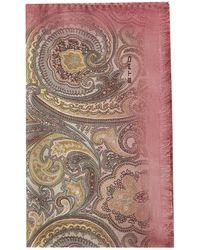 Etro Paisley Printed Fringed Scarf - Multicolour