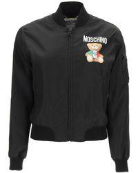 Moschino Teddy Bear Bomber Jacket - Black