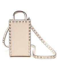 Valentino Garavani Garavani Rockstud Top Handle Bag - White