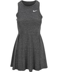 Nike Dri-fit Advantage Pleated Dress - Gray
