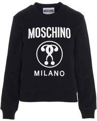 Moschino Double Question Mark Sweatshirt - Black