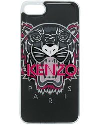 KENZO 3d Tiger Iphone 7 Plus Phone Case - Black