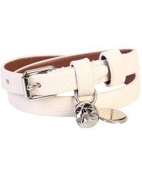 Alexander McQueen Double Wrap Skull Bracelet - White