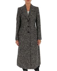 Dolce & Gabbana Checked Long-line Coat - Multicolor