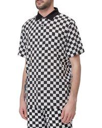 Vans Checker Camp Short Sleeve Shirt - Black