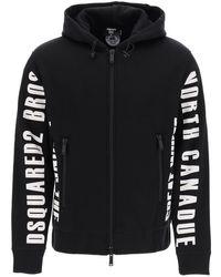 DSquared² Logo Hooded Jacket - Black