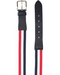 Thom Browne Rwb Striped Buckle Belt - Blue