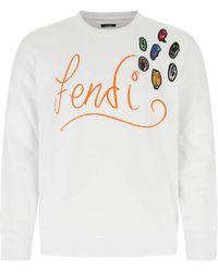 Fendi Cotton Sweatshirt - White