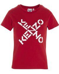KENZO Sport Logo T-shirt - Red