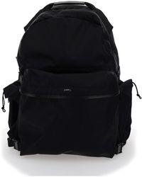 Juun.J Junn J Logo Print Backpack - Black