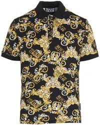 Versace Jeans Couture Baroque Print Polo Shirt - Multicolour