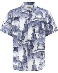 Buscemi New York Landmark Print Shirt - Blue