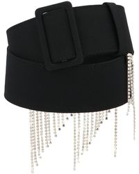 MSGM Embellished Fringed Belt - Black