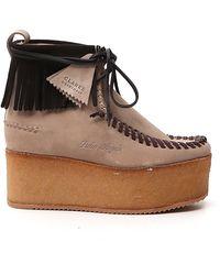 Palm Angels Platform Sneakers - Brown
