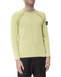 Stone Island Reversible Crewneck Sweater - Yellow