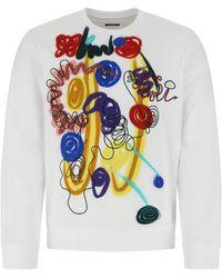 Fendi Cotton Sweatshirt Uomo - White