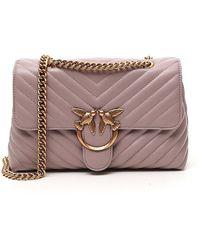 Pinko Love Lady Puff V Quilted Shoulder Bag - Pink