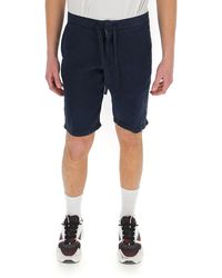 Z Zegna Drawstring Waist Shorts - Blue