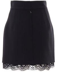 Dolce & Gabbana Lace Insert Mini Skirt - Black