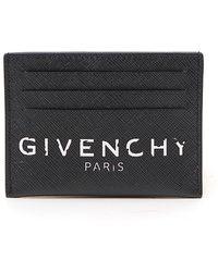 Givenchy Paris Vintage Effect Logo Cardholder - Black