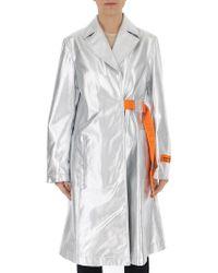 Heron Preston Belted Wrap Coat - Metallic